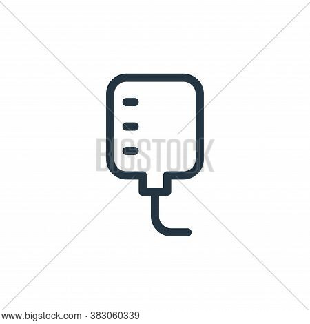 iv bag icon isolated on white background from medicine collection. iv bag icon trendy and modern iv