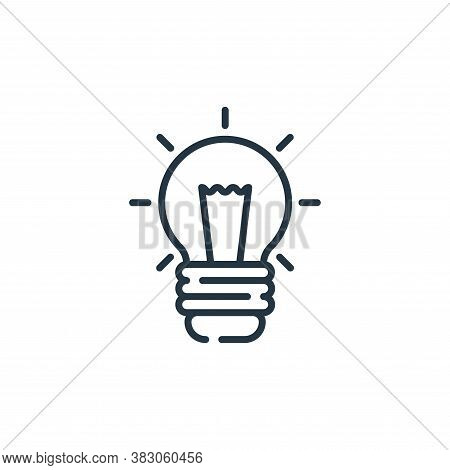 light bulb icon isolated on white background from smart city collection. light bulb icon trendy and