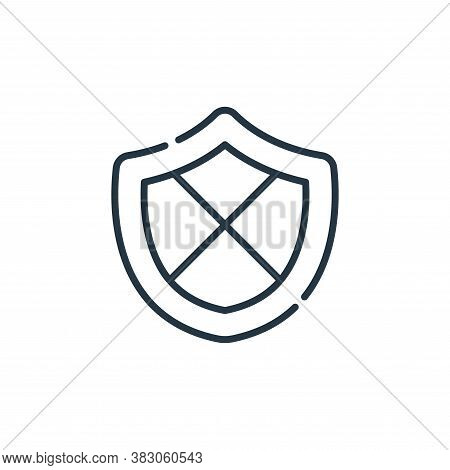 shield icon isolated on white background from cyber security collection. shield icon trendy and mode