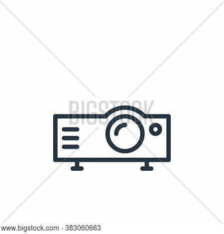 projector icon isolated on white background from working in the office collection. projector icon tr