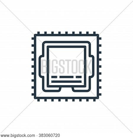 cpu icon isolated on white background from computer hardware collection. cpu icon trendy and modern