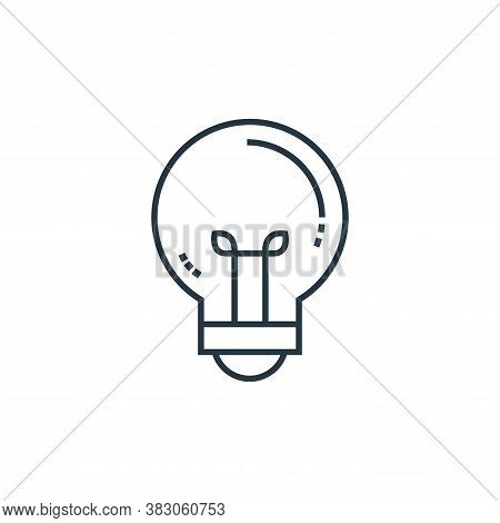bulb icon isolated on white background from school collection. bulb icon trendy and modern bulb symb