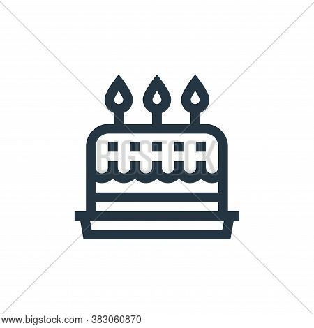 birthday cake icon isolated on white background from celebration collection. birthday cake icon tren