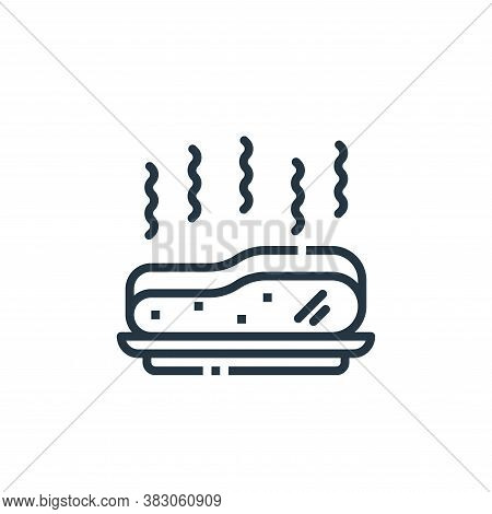 meat icon isolated on white background from cooking collection. meat icon trendy and modern meat sym