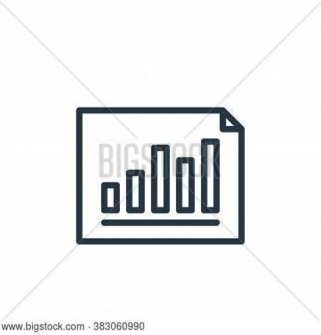 growth chart icon isolated on white background from working in the office collection. growth chart i