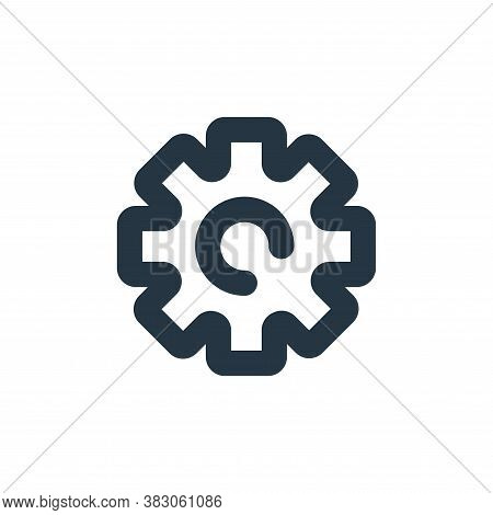 settings icon isolated on white background from user interface collection. settings icon trendy and