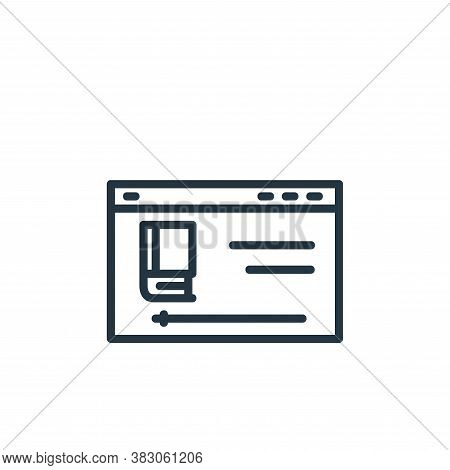 video tutorial icon isolated on white background from online learning part line collection. video tu