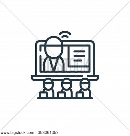teacher icon isolated on white background from digital learning collection. teacher icon trendy and