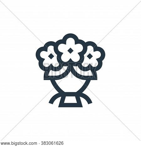 flower bouquet icon isolated on white background from celebration collection. flower bouquet icon tr