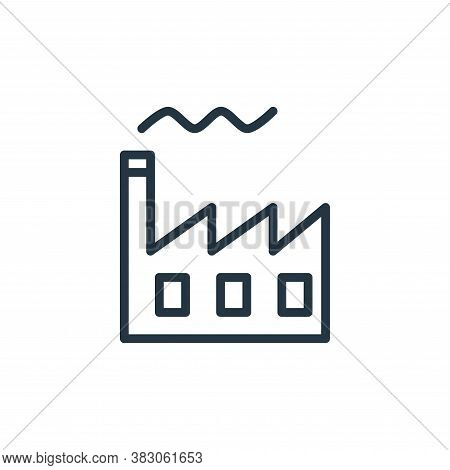 factory icon isolated on white background from working in the office collection. factory icon trendy