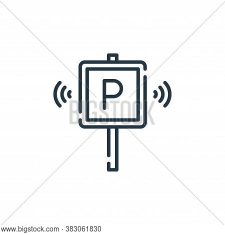 parking sign icon isolated on white background from smart city collection. parking sign icon trendy