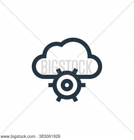 cloud computing icon isolated on white background from web maintenance collection. cloud computing i