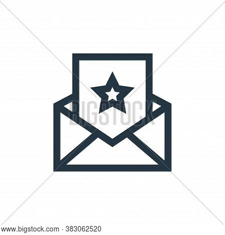 invitation icon isolated on white background from celebration collection. invitation icon trendy and