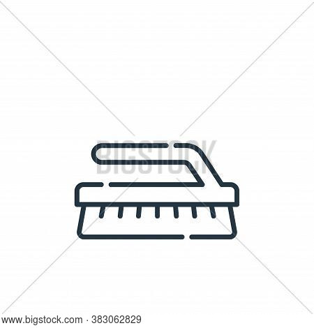 brush icon isolated on white background from hygiene routine collection. brush icon trendy and moder