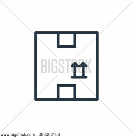 package icon isolated on white background from working in the office collection. package icon trendy