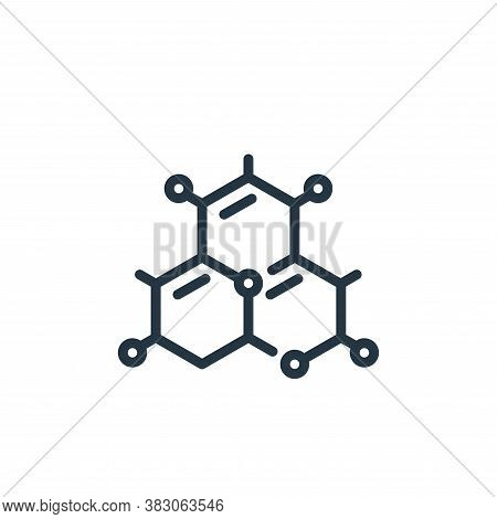 molecule icon isolated on white background from science collection. molecule icon trendy and modern