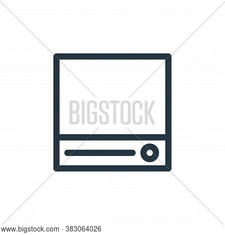 storage icon isolated on white background from computer hardware collection. storage icon trendy and
