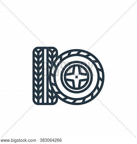 tire icon isolated on white background from car service collection. tire icon trendy and modern tire