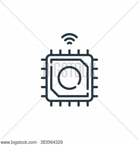 chip icon isolated on white background from smart city collection. chip icon trendy and modern chip