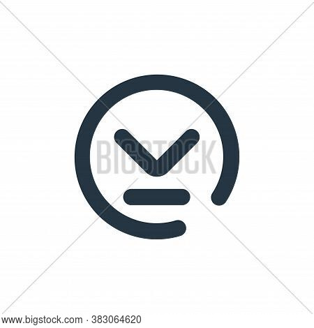 download icon isolated on white background from user interface collection. download icon trendy and