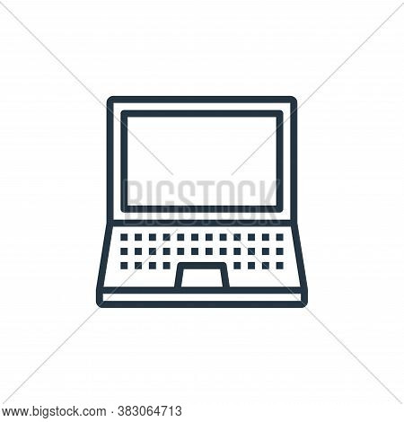laptop icon isolated on white background from computer hardware collection. laptop icon trendy and m