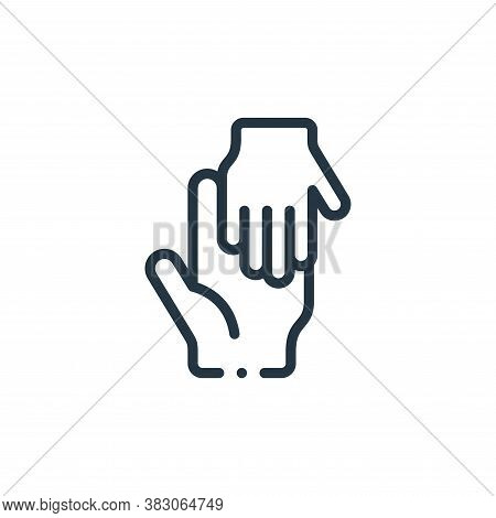 helping icon isolated on white background from charity collection. helping icon trendy and modern he