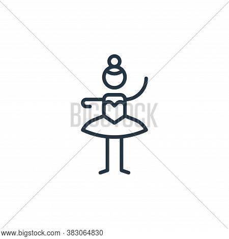 ballet icon isolated on white background from arts collection. ballet icon trendy and modern ballet
