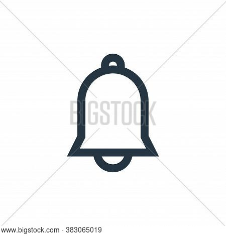 notification bell icon isolated on white background from basic ui collection. notification bell icon