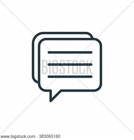 speech bubble icon isolated on white background from office collection. speech bubble icon trendy an