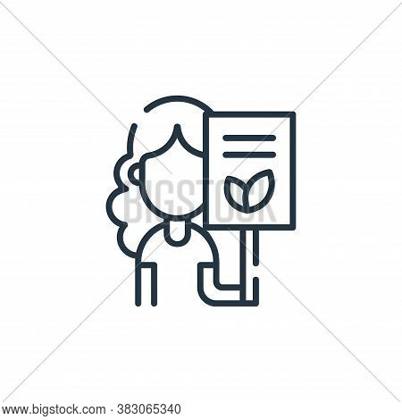 activist icon isolated on white background from ecology collection. activist icon trendy and modern