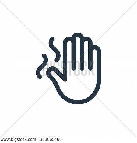 hand icon isolated on white background from quit smoking collection. hand icon trendy and modern han