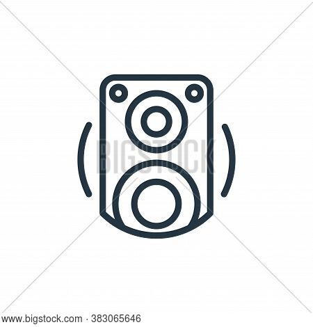 loudspeaker icon isolated on white background from electrical appliances collection. loudspeaker ico