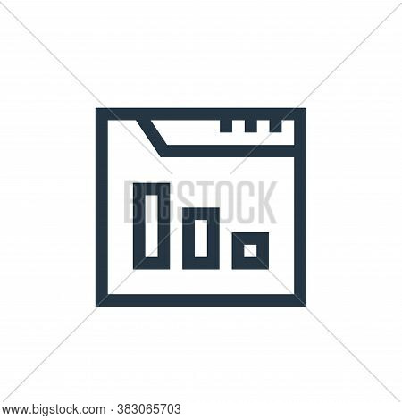 stats icon isolated on white background from web maintenance collection. stats icon trendy and moder