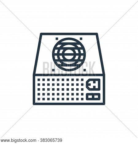 power supply icon isolated on white background from computer hardware collection. power supply icon