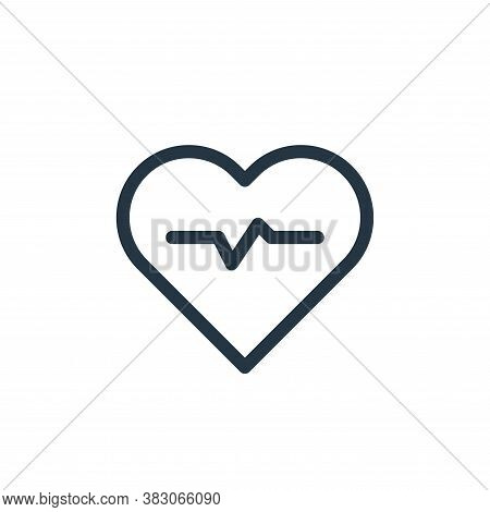 cardiogram icon isolated on white background from medicine collection. cardiogram icon trendy and mo