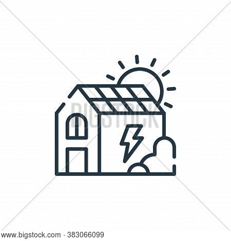 eco house icon isolated on white background from ecology collection. eco house icon trendy and moder