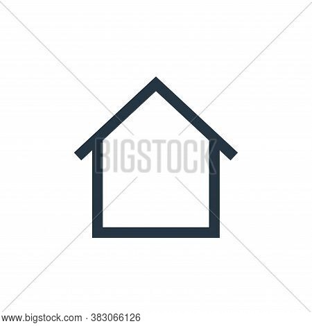 home icon isolated on white background from basic ui collection. home icon trendy and modern home sy