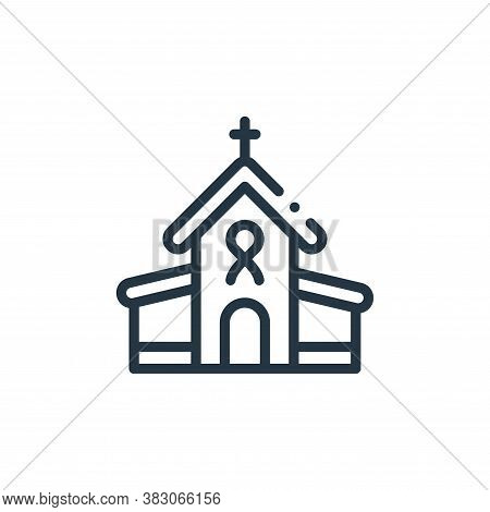 church icon isolated on white background from charity collection. church icon trendy and modern chur