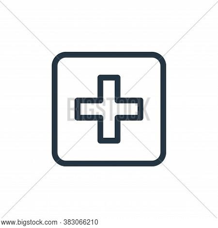 cross icon isolated on white background from medicine collection. cross icon trendy and modern cross