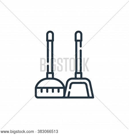 broom icon isolated on white background from hygiene routine collection. broom icon trendy and moder