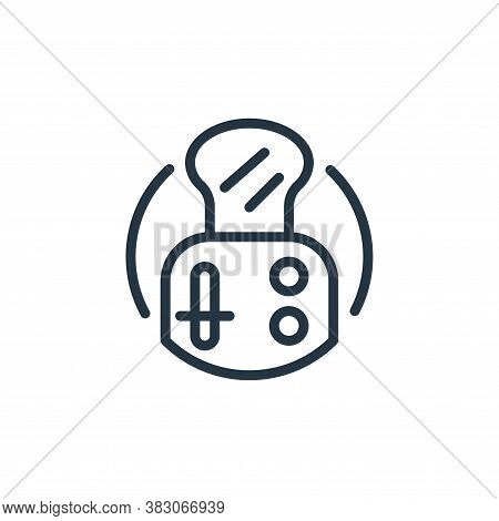 toaster icon isolated on white background from electrical appliances collection. toaster icon trendy