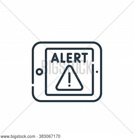 alert icon isolated on white background from cyber security collection. alert icon trendy and modern