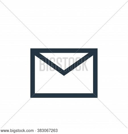 email icon isolated on white background from basic ui collection. email icon trendy and modern email
