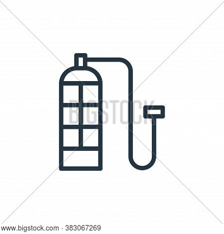 oxygen tube icon isolated on white background from summer collection. oxygen tube icon trendy and mo