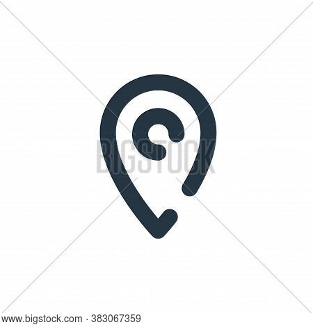 location icon isolated on white background from user interface collection. location icon trendy and