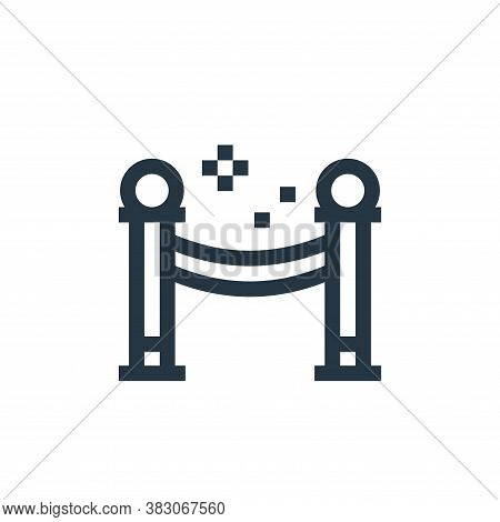 barrier icon isolated on white background from celebration collection. barrier icon trendy and moder