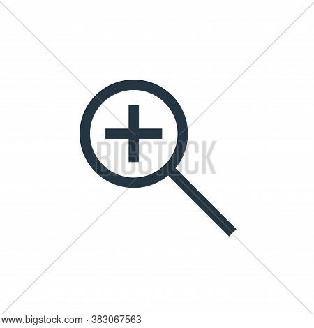 zoom in icon isolated on white background from basic ui collection. zoom in icon trendy and modern z