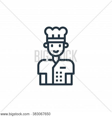 chef icon isolated on white background from cooking collection. chef icon trendy and modern chef sym