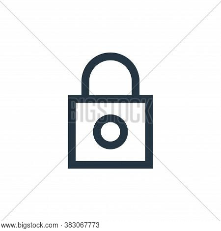 padlock icon isolated on white background from basic ui collection. padlock icon trendy and modern p