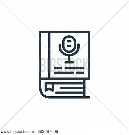audio book icon isolated on white background from online learning part line collection. audio book i